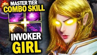 BEAUTIFUL GAMEPLAY BY INVOKER GIRL WITH THOSE SMOOTH COMBO - DOTA 2 INVOKER 7.20D