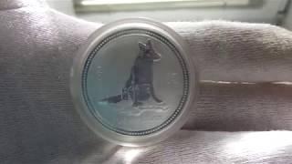 Серебряная монета Собака серия Лунар 1.