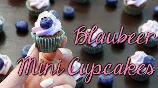 BLAUBEER MINI CUPCAKES REZEPT | Blueberry Muffins selber machen [Cupcakes backen & dekorieren]
