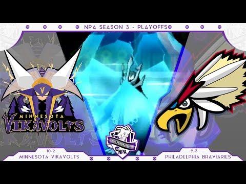 FREEZE-DRIVE! | Minnesota Vikavolts VS Philadelphia Braviaries PLAYOFFS NPA S3  | Pokemon Sun Moon