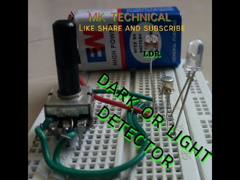 Mini project (How to make light or dark detector) - YouTube