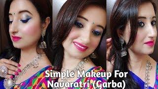 Gambar cover Simple Makeup Tutorial For Navaratri/ Garba With Miss Rose High Coverage Foundation l Beautiful U