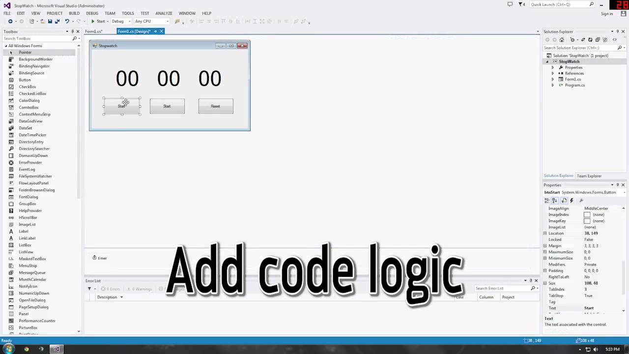 Gui and timer: time « gui windows form « c# / c sharp.