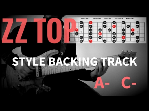 ZZ TOP STYLE BACKING TRACK Am Cm