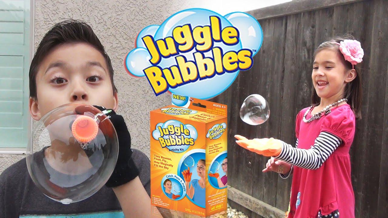 JUGGLE BUBBLES - Let's Pop Some Magic Bubbles! - YouTube
