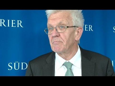 Ministerpräsident Winfried Kretschmann im SÜDKURIER-Interview vor der Bundestagswahl 2017