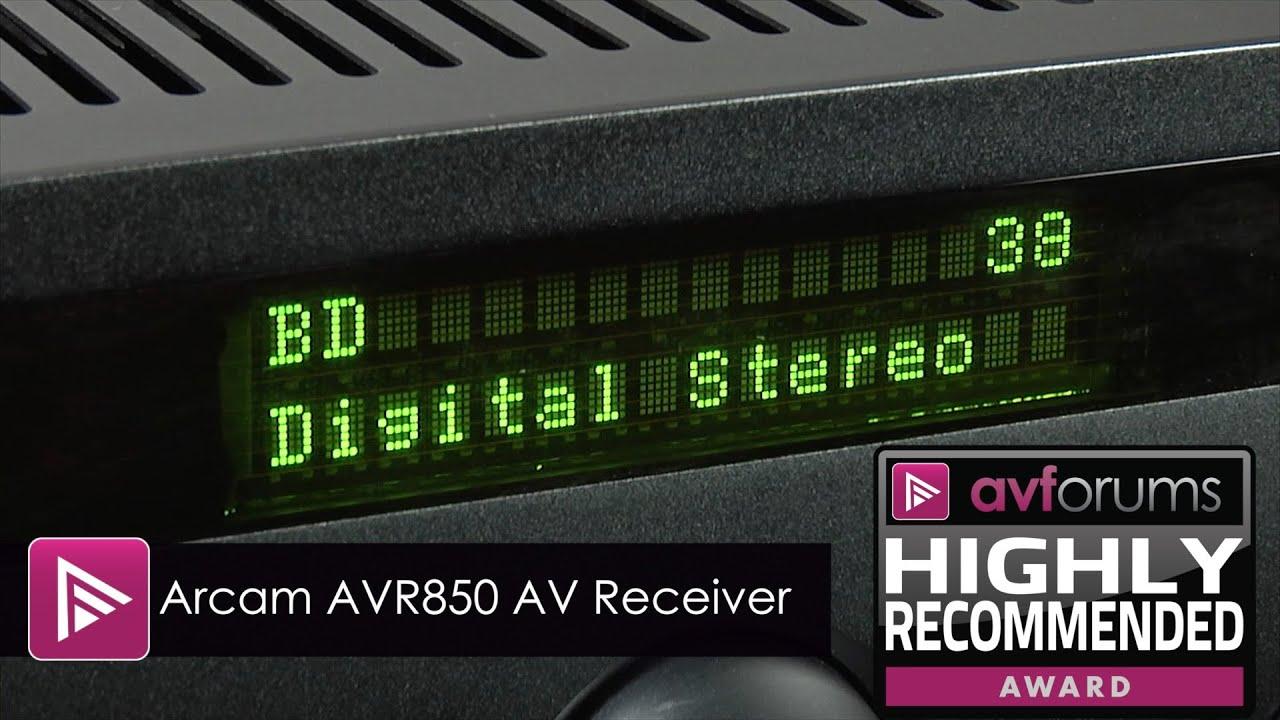 Arcam AVR850 7-Channel AV Receiver Review   AVForums