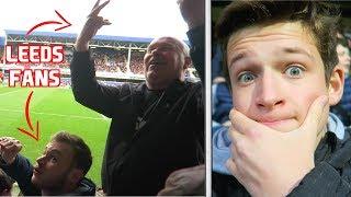 LEEDS FANS KICK OFF IN HOME END - QPR vs Leeds United Vlog