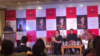 Khalid Mohamed at the launch of Asha Parekh's biography titled The Hit Girl