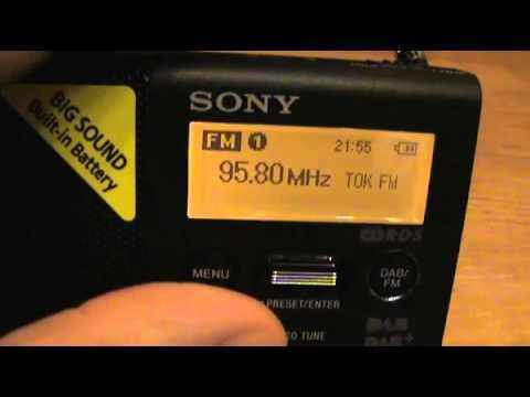 SONY XDRP1DBP Portable Digital Radio DAB+