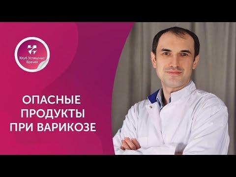 Опасные продукты при варикозе. Флеболог. Максим Абасов.  Москва