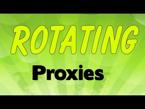 Rotating proxies - YouTube