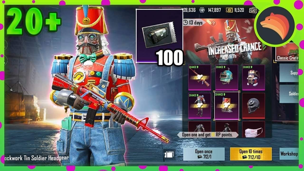 Opening 100 NEW Classic Crates | PUBG MOBILE