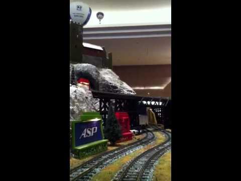 Hilton Nagoya Christmas train set