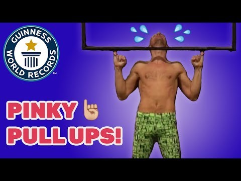 Most consecutive pinky pull ups - Guinness World Records