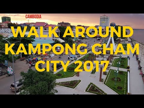 traveling in kampong cham city in the evening | tourist destination in kampong cham nowadays