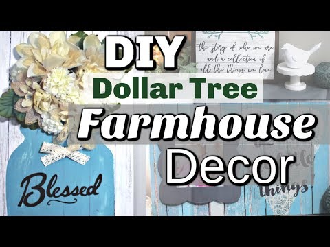 DIY Dollar Tree Home Decor | Dollar Tree Farmhouse DIY Decor | Krafts by Katelyn