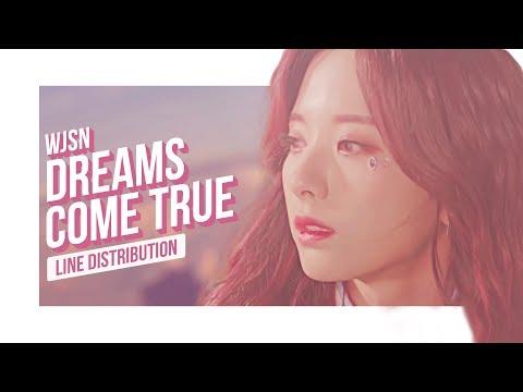 WJSN - Dreams Come True Line Distribution (Color Coded) | 우주소녀 - 꿈꾸는 마음으로