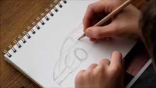 Car Drawing: Ferrari F50