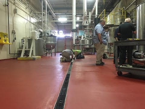 Urethane Cement Flooring Nj Youtube