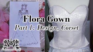 Making A Sequin Corset   Flora Gown Part 1