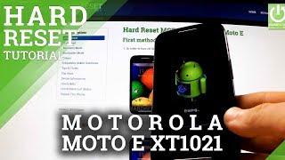 Factory Reset MOTOROLA XT1021 Moto E - Wipe All Data by Hard Reset