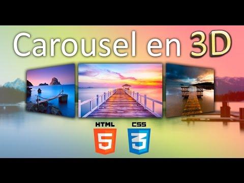 Como crear carousel en 3D solo con HTML5 - CSS3 (Muy fácil - bien explicado)