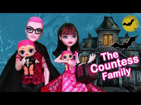 LOL Families ! The Countess Family Bat Mystery | Toys and Dolls Fun Pretend Play for Kids | SWTAD