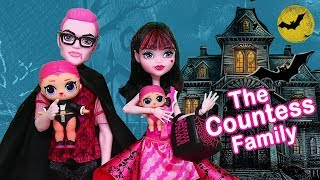 SWTAD LOL Families ! The Countess Family Bat Mystery | Toys and Dolls Fun Pretend Play for Kids