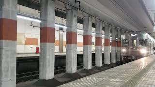 長野電鉄長野線3000系O2編成(オーニ)編成出発動画