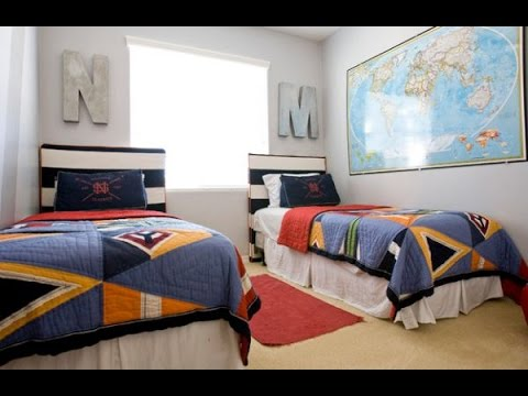 Twin boy bedroom ideas youtube for Boy girl twin bedroom ideas