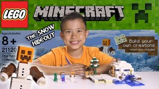 THE SNOW HIDEOUT - LEGO MINECRAFT Set 21120 - Unboxing, Review, Time-Lapse Build