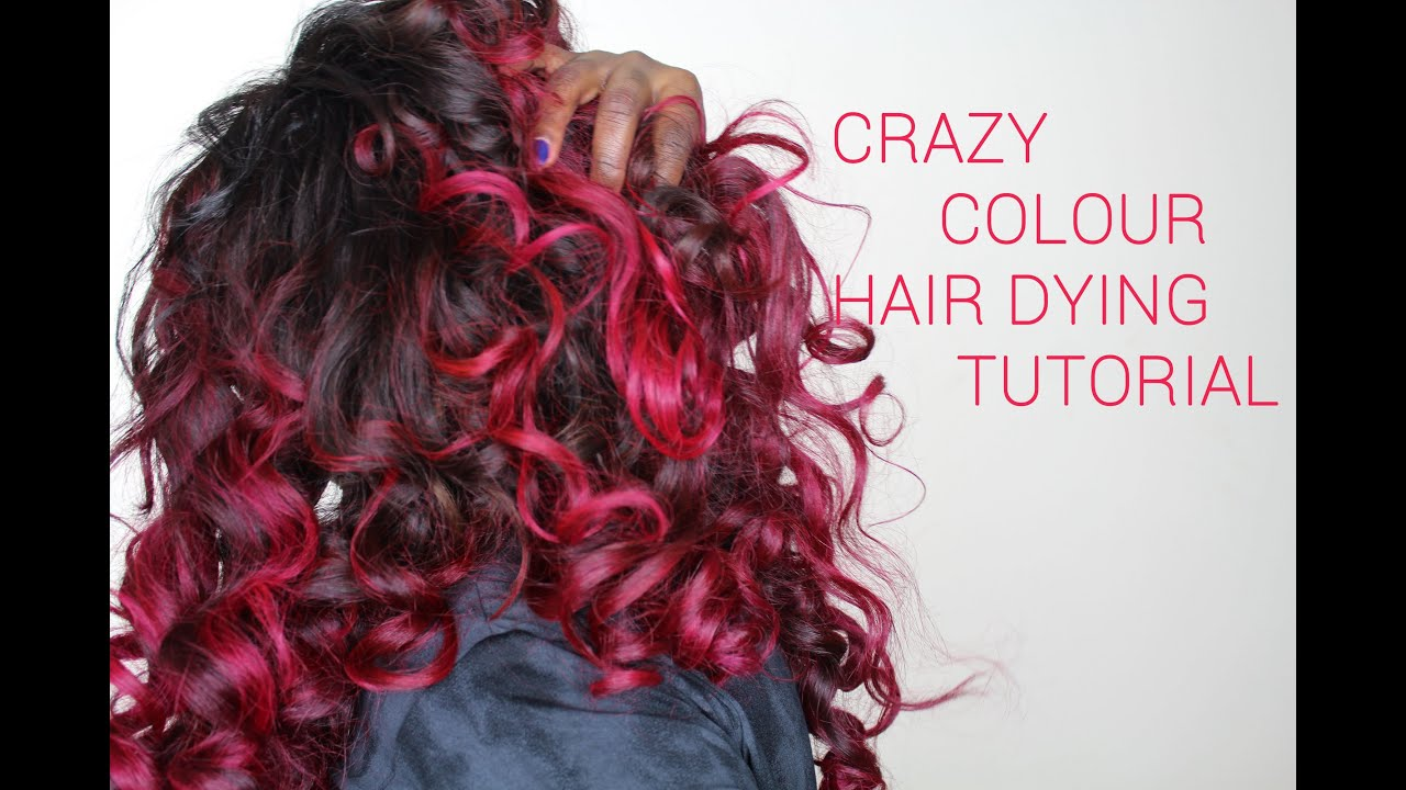 crazy colour hair dying tutorial - Crazy Color Aubergine