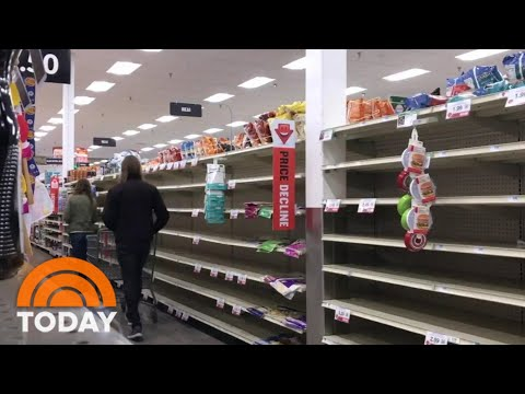 Grocery Stores And Manufacturers Rush To Restock Empty Shelves   TODAY