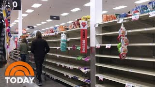 Grocery Stores And Manufacturers Rush To Restock Empty Shelves | Today