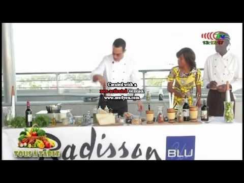 TOUS A TABLE, télé Congo avec pour partenaire l'Hotel Radisson Blu autrement ap