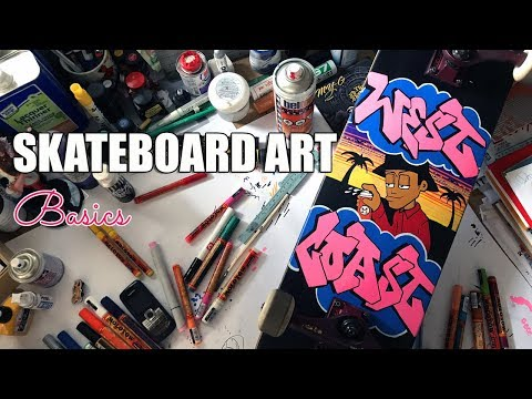 Paint Your Skateboard Graffiti Style  Feat Molotow Markers
