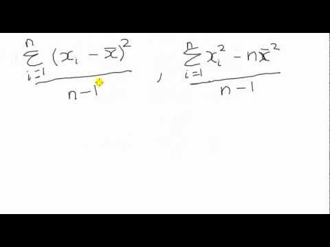 Sample Variance Exercise In Summation  Youtube