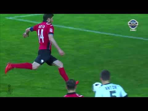 """Azərbaycan Kuboku 17/18, 1/2 final, cavab oyunu, """"Neftçi"""" 1-3 """"Qəbələ"""""""