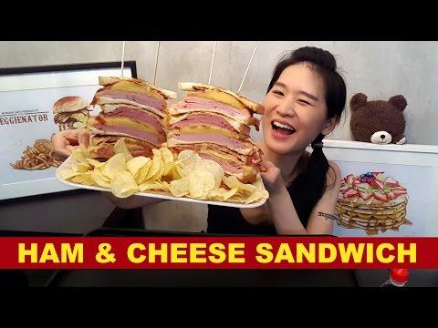 GIANT HAM & CHEESE SANDWICH!! Mukbang | Eating Show
