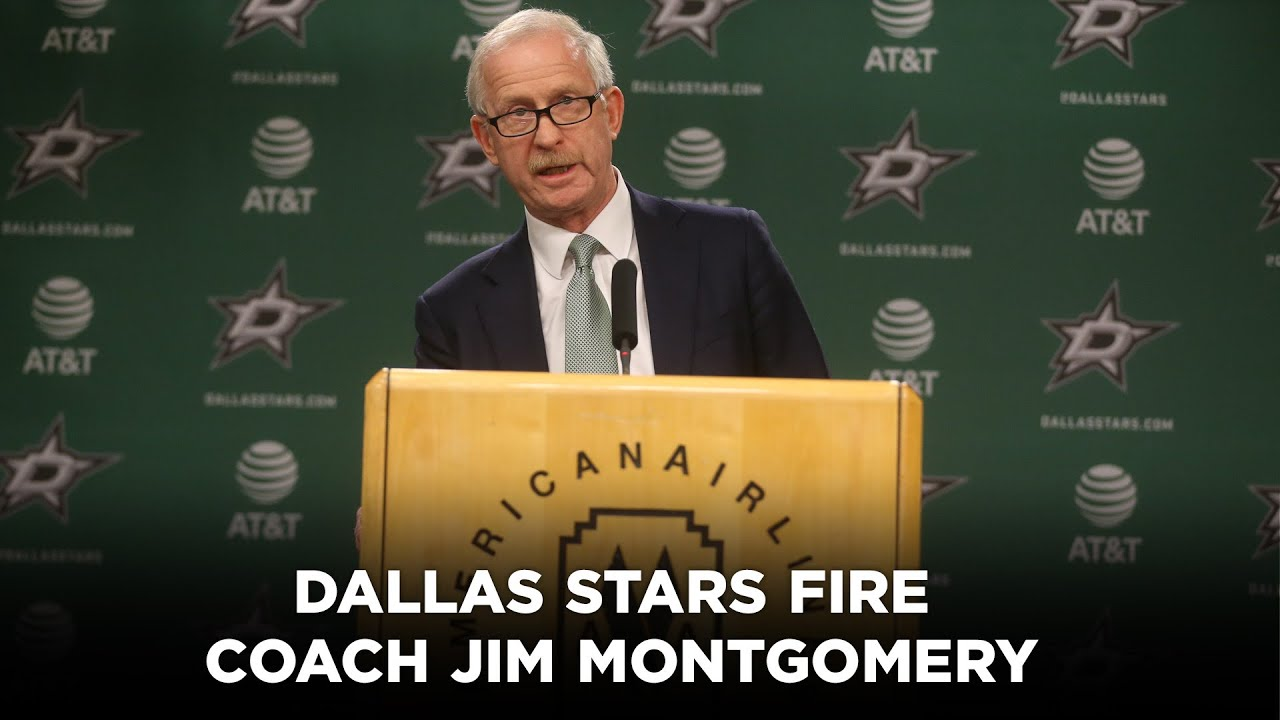 Stars Dismiss Coach Jim Montgomery for 'Unprofessional Conduct ...