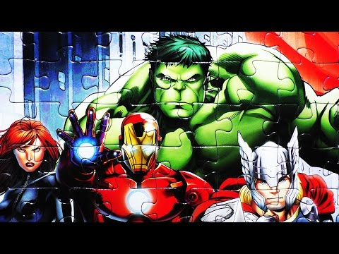 MARVEL AVENGERS Learn Puzzle Jigsaw Games Clementoni Hulk Captain America Iron Man Thor Rompecabezas