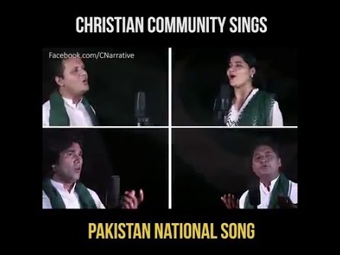 christian community sing national song of pakistan...