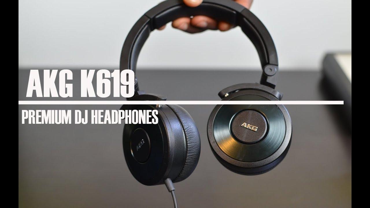 aceecdf7905 AKG K619 Black Premium DJ Headphones - YouTube