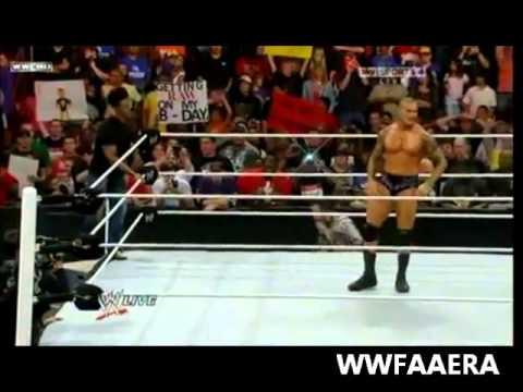 RANDY ORTON RKO'S 4 PEOPLE IN A ROW!!!!
