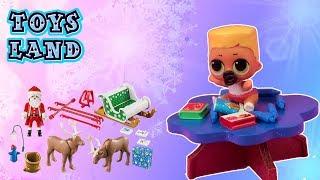 Kalendarze adwentowe #12  LOL Surprise OMG SWAG i Barbie garderoba  bajka po polsku