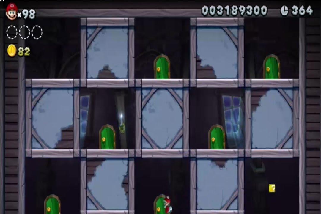 New Super Mario Bros U Zuckerwattenwolkenzone Geisterhaus