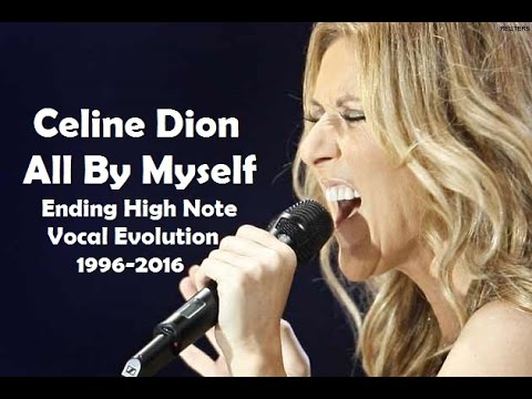 Celine Dion  All  Myself Ending High Note Vocal Evolution, 19962016