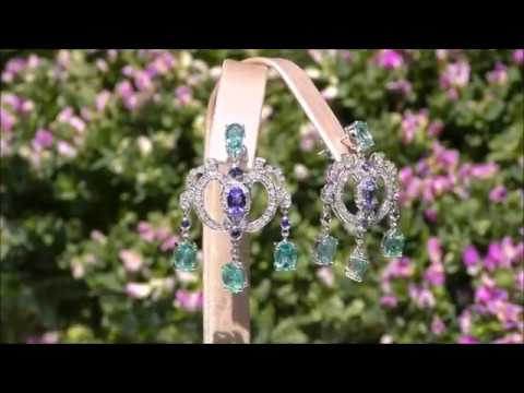 Crown set inspired by Her Majesty's Queen Elizabeth II Emerald, Tanzanite, Sapphire and Diamond