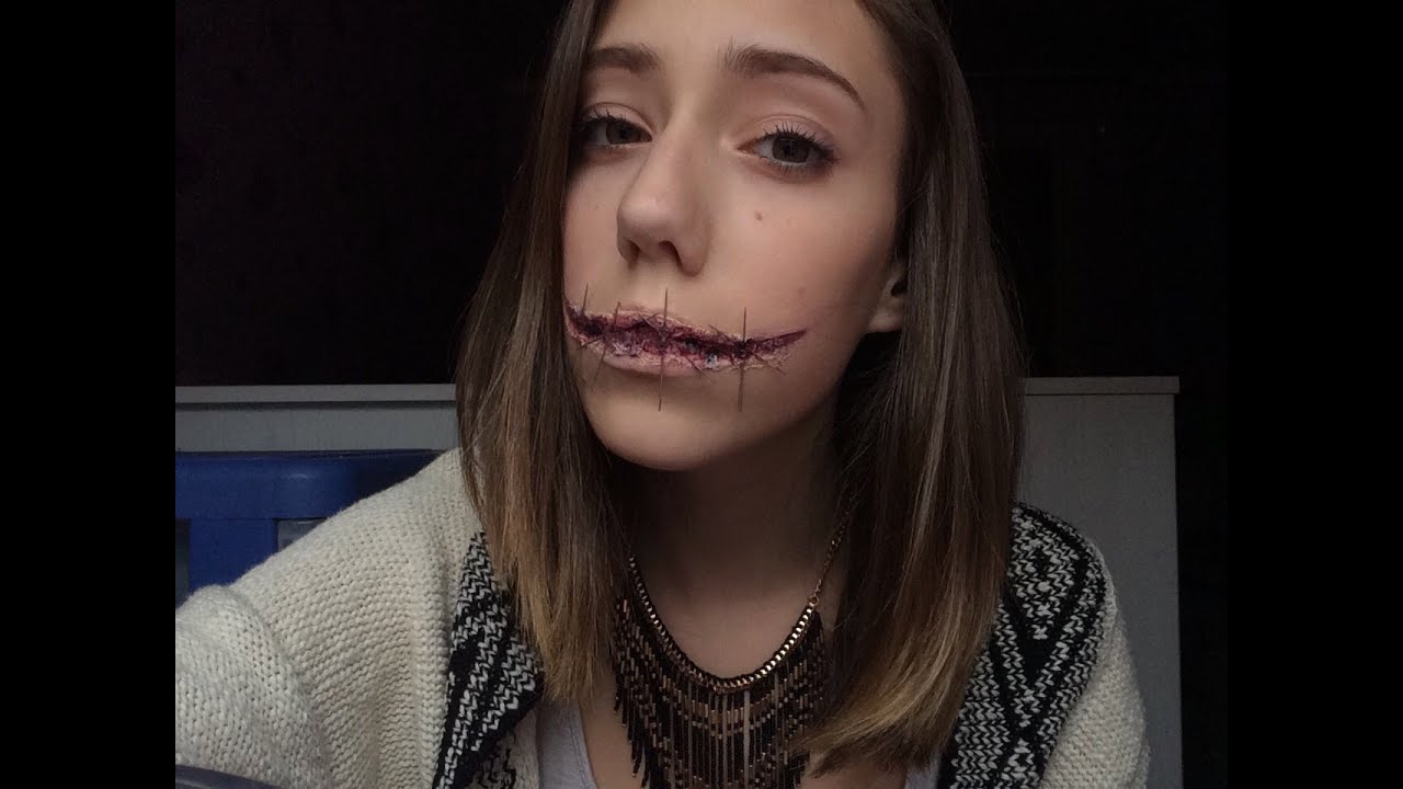 Maquillage fx bouche cousue youtube - Maquillage halloween bouche ...
